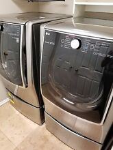 Lg washer and dryer MEGA CAPACITY  pedestal   sidekick included