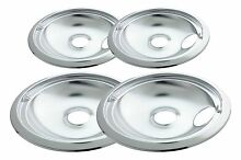 Electric Stove Drip Pans Containing 2 Units Each 119A 120A Chrome Better Quality