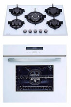 MILLAR White 70cm 5 Burner Gas Hob   9 Functions Electric Fan Oven