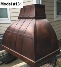Copper Custom Hood All Metals   Sizes Incl  Motor Wall Or Island Hood Model  131