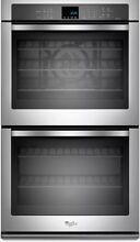 Whirlpool Gold 30  Double Wall Oven with True Convection Cooking 10 CuFt
