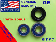 FRONT LOAD WASHER 2 TUB BEARINGS AND SEAL  GE GENERAL ELECTRIC KIT   7