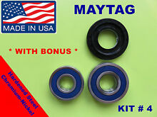 FRONT LOAD WASHER 2 TUB BEARINGS AND SEAL  Maytag Amana  KIT   4