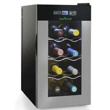 NUTRICHEF Electric Wine Cooler   Wine Chilling Refrigerator Cellar  8 Bottle