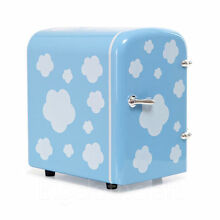 New Portable Refrigerator 4 Liter Mini Cooler   Warmer     Cosmetic  Sky Blue