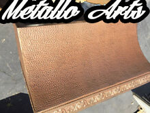 Metallo Arts Hand Made Custome Metal Hood Bronze With Gold Highlights 600 CFM 2