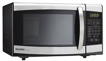 Danby Countertop Microwave Oven  0 7 cu ft  Black and Stainless Steel