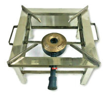 SQUARE STEEL COMMERCIAL KITCHEN GAS STOVE JUMBO BURNER LPG PROPANE COOKTOP