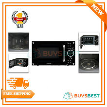 Daewoo 23L Freestanding 800W Retro Style Touch Control Black Microwave KOR8A9RB