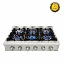 36  Stainless Steel Gas Range Top Counter Glass Flat Portable Thor Kitchen