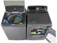 Electric Samsung Top Load Washer and Front Load Dryer