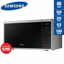 Samsung 40L Neo Microwave 1000W Stainless Steel Ceramic MS40J5133BT 2yrs Wrnty