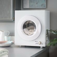 Compact Electric Dryer White Clothes College Dorm Apartment Condo Timer Hot Dry