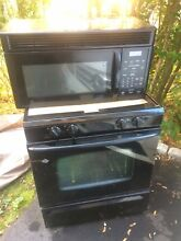 Maytag gas range stove black used very good condition