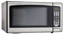 Danby Designer 1 1 cu ft  Countertop Microwave  Stainless Steel