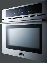 Summit CMV24 Built in 24  Microwave  Convection Oven  Grill Stainless Steel