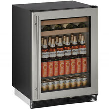 U Line 105 Bottle  Reversible Door  Wine   Beverage Cooler  Stainless Steel