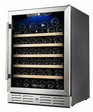 Kalamera 54 Bottle Built in Undercounter Wine Beverage Cooler 24  Wide WAS  799