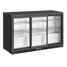Commercial Grade Back Bar Fridge  3 Self closing Glass Door 328BP