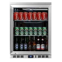 24  Undercounter Heating Glass Door Beverage Cooler Fridge KBU55CSS