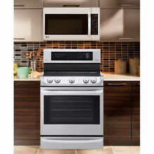 LG 2 Piece Cooking Pair 6 3CuFt ELECTRIC ProBake Convection Range with Microwave