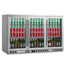 3 Door Heating Glass Undercounter Beverage Cooler Drink Center KBU328CSS