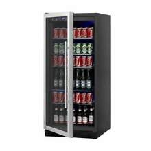 Upright Beverage Cooler Drink Center with Glass Door KBU100BSS