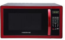 Faberware Classic 1 1 Cubic Foot Microwave Oven In Metallic Red