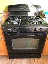 GE Black Four Burner Oven
