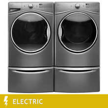 Whirlpool Steam Clean 4 5CuFt Washer  and 7 4CuFt ELECTRIC Steam Refresh Dryer