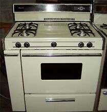 Used 36  Wide Almond Gas Range Very Nice Condition 2 Month Warr   Local Pick Up