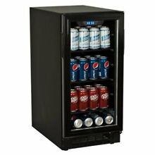 Koldfront BBR900BL 80 Can 15 Inch Wide Built In Beverage Cooler   Black