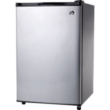 Igloo 4 6 cu  ft  Refrigerator and Freezer  Stainless Steel