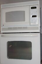 GE 27  Excellent Condition Bisque Built In Double Microwave Oven