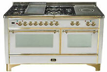 Ilve Majestic UM150FSDMPI Pro 60  Dual Fuel Gas Range Oven Griddle French Top