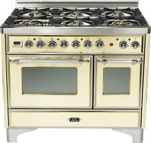 Ilve UMD1006DMPAX Majestic Pro 40  Dual Fuel Double Oven Range Antique White