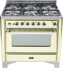 Ilve UM906DVGGAX Majestic 36  All Gas Range Single Oven 6 Burner Warming Drawer