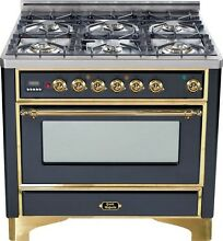 Ilve UM906DVGGM Majestic Pro 36  All Gas Range Oven 6 Burner Warming Drawer