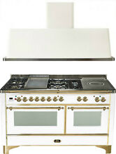 Ilve UM150FSDMPB 60  Dual Fuel Gas Range Oven Griddle French Top 2