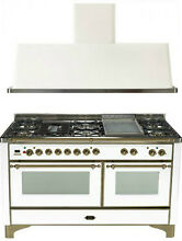 Ilve UM150FDMPBY Majestic 60  Pro Dual Fuel Gas Range Double Oven 2Pc Package