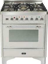 Ilve UM76DVGGIX Majestic 30  Single Oven Gas Range Convection Stainless Steel