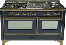 Ilve UM150SDMPMY Majestic Series 60  Dual Fuel Gas Range Double Oven French Top