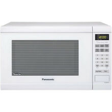 Panasonic White 1 2 cu ft 1 200 Watt Left Door Swing Countertop Microwave Oven