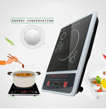 2000W Electric Induction Cooktop Cooker Countertop Burner Digital Portable Black