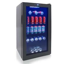 NUTRICHEF Compact Beverage Fridge  Can Chiller Refrigerator  132 Can