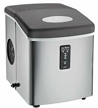 Countertop Ice Maker Over Sized Ice Bucket Stainless Steel Cube Portable Machine