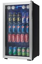 Can Beverage Cooler Center Stainless Steel Fridge Beer Soda Wine Cold Drink Mini
