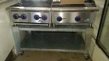 GAS BURNERS  TOP STOVE   NATURAL GAS GRILL WITH STEEL TABLE