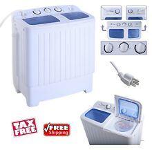 Portable Mini Washing Machine Camping Motor Home Dorm Compact Washer Spin Dryer