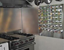 Stainless Steel Backsplash 36in x 23 25in Range Hood Wall Shield w  Hemmed Edges